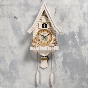 """Часы настенные с кукушкой """"Лебеди"""", 2 шт 3 АА, 2 шт R14, плавный ход, 63х8х32 см   5183579"""