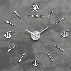 """Часы-наклейка """"Морские"""" d=70 см, стрелки 22,5см, 16.5 см, 1АА, плавный ход   5200582"""