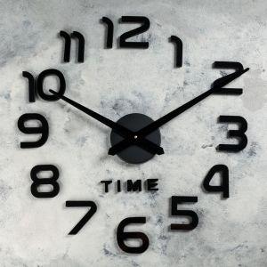 """Часы-наклейка DIY """"Элегант"""", чёрные, 120 см    4141504"""