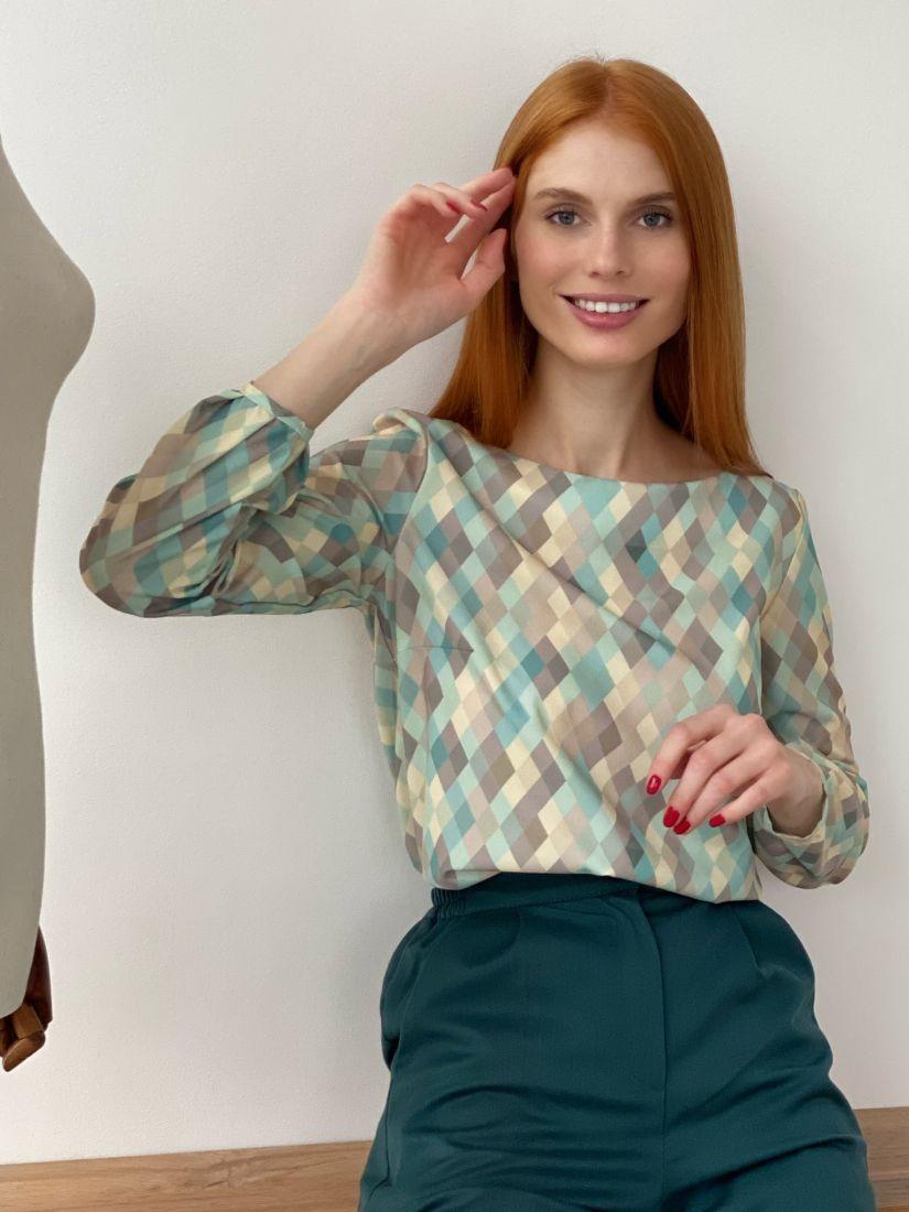 2771 Блуза с графичным принтом