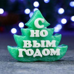 """Мыло фигурное """"Символ года: Ёлочка с новым годом"""" зелёная, 60гр 5226847"""