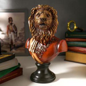 """Сувенир полистоун """"Бюст льва-полководца"""" цветной 34х15,5х22 см   4900696"""
