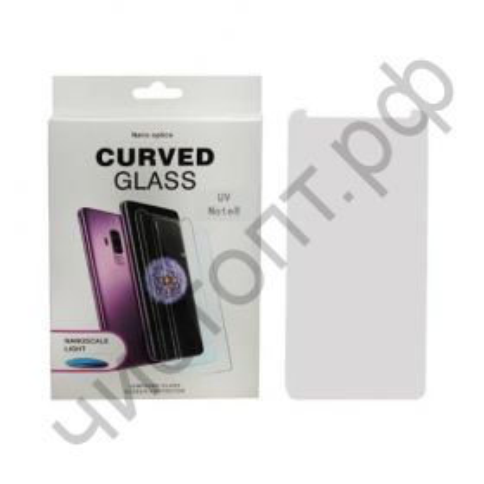 Защитное стекло 3D Samsung Note 8 UV Glue (ультрафиолет. клей) в наборе уф лампа скрывает дефекты дисплея