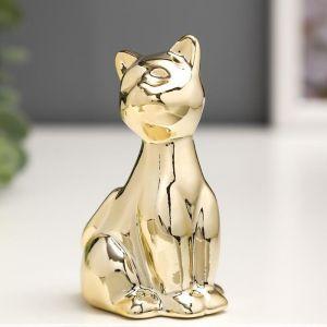 "Сувенир керамика ""Котёнок"" золото 7,8х4,8х4 см   5109440"