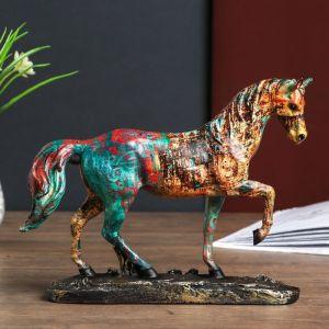 "Сувенир полистоун ""Конь аллюр - мазки краски"" 22х30х6,5 см   4141770"