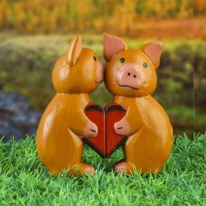 Сувенирный набор «Влюблённые свинки»