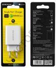 СЗУ Borofone BA21A с 1 USB выходом 3.0A QC3.0 белый