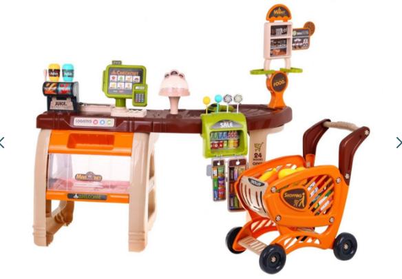Игровой набор большой супермаркет + тележка ZDZ.668-68