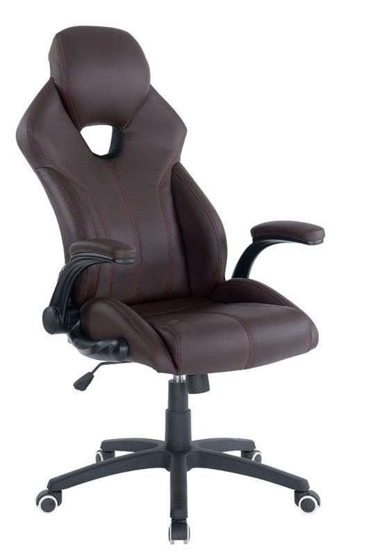 Кресло офисное Special4You Leader Brown (E4985)