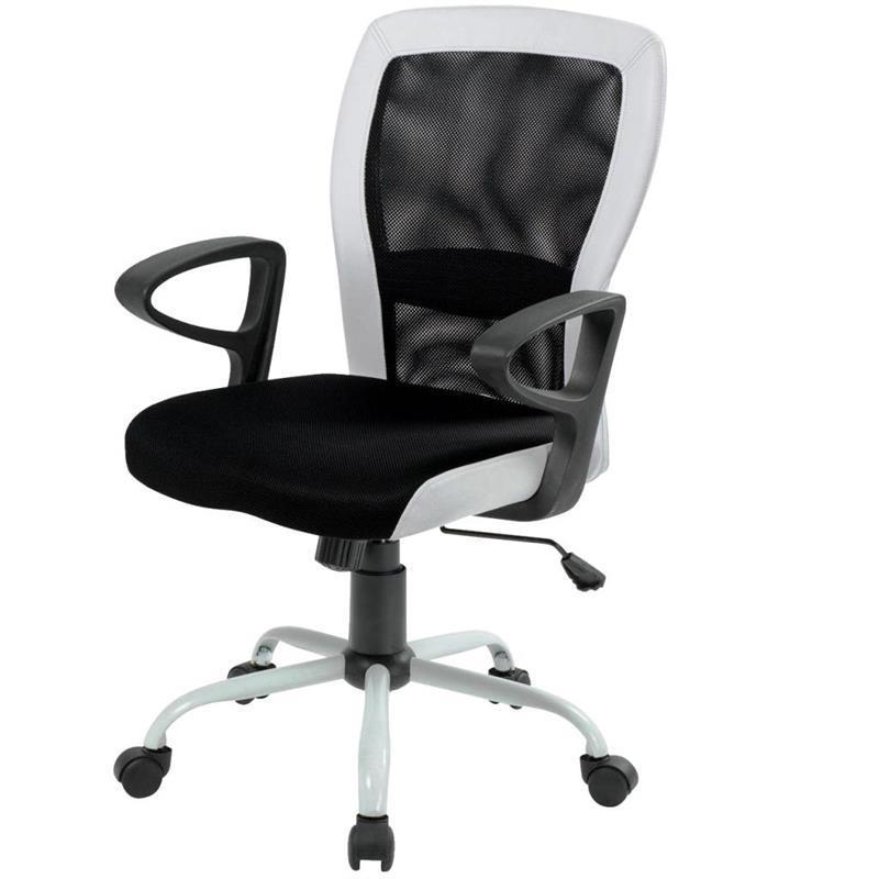 Кресло офисное Office4you Leno Black/White (27785)