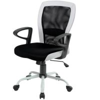 Кресло офисное Office4you Leno Black/White (27785)