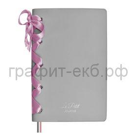Книжка зап.Феникс+ А6+ ПВХ атласная лента серебряный  96л. линия 52772
