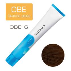 Lebel Materia µ Layfer OBE6 - Тонирующая краска лайфер, Тёмный блондин оранжево-бежевый 80гр