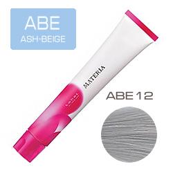 Lebel Краска для волос Materia ABE12 - Cупер блонд пепельно-бежевый 80 гр