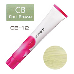 Lebel Краска для волос materia CB12 - Супер блондин холодный коричневый 80 гр