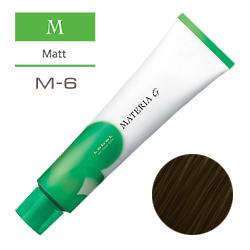 Lebel Краска для волос Materia G Тон M6 - Тёмный блондин матовый 120 гр.