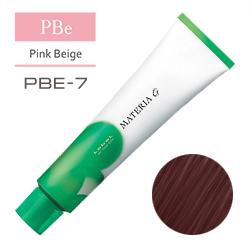 Lebel Краска для волос Materia G Тон PBE7 - Блондин розово-бежевый 120 гр.