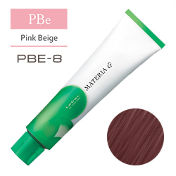 Lebel Краска для волос Materia G Тон PBE8 - Светлый блондин розово-бежевый 120 гр.