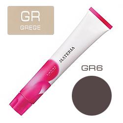 Lebel Краска для волос Materia Grege&Mauve - GR6, 80 гр