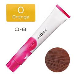 Lebel Краска для волос materia O6 -  Тёмный блондин оранжевый 80 гр