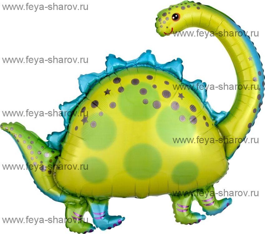 Шар Динозавр Бронтозавр 91 см
