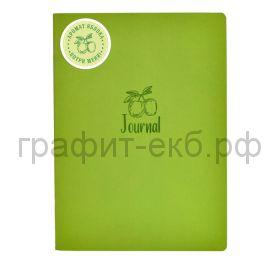 Книжка зап.Феникс+ А5+ ШАГРЕНЬ с ароматом яблоко зеленый 60л. клетка 52903