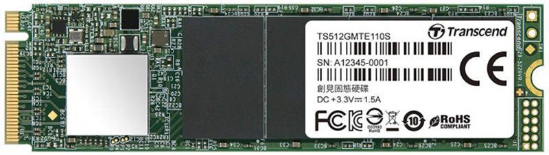 Накопитель SSD  512GB Transcend MTE110S M.2 2280 PCIe 3.0 x4 3D TLC (TS512GMTE110S)