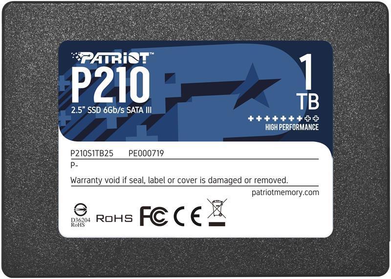 "Накопитель SSD 1TB Patriot P210 2.5"" SATAIII TLC (P210S1TB25)"