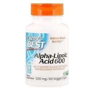 DOCTOR'S BEST ALPHA-LIPOIC ACID 600 МГ 60 КАПС