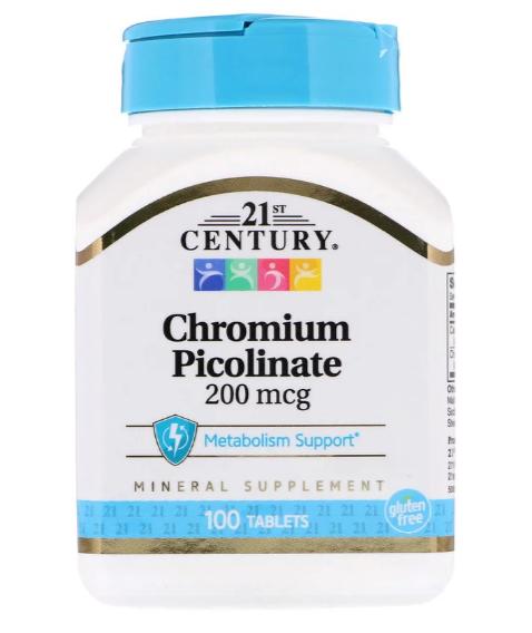 21st Century Пиколинат хрома 200 мкг 100 табл