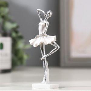 "Сувенир полистоун ""Маленькая балерина в белом платье"" 10х3х4,5 см   4838245"