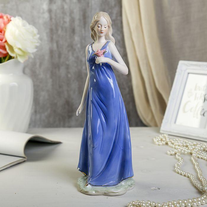 """Сувенир фарфор """"Девушка с цветком"""" 30 см 3853805"""