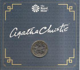 100 лет первой книге Агаты Кристи 2 фунта Великобритания 2020 Буклет. на заказ