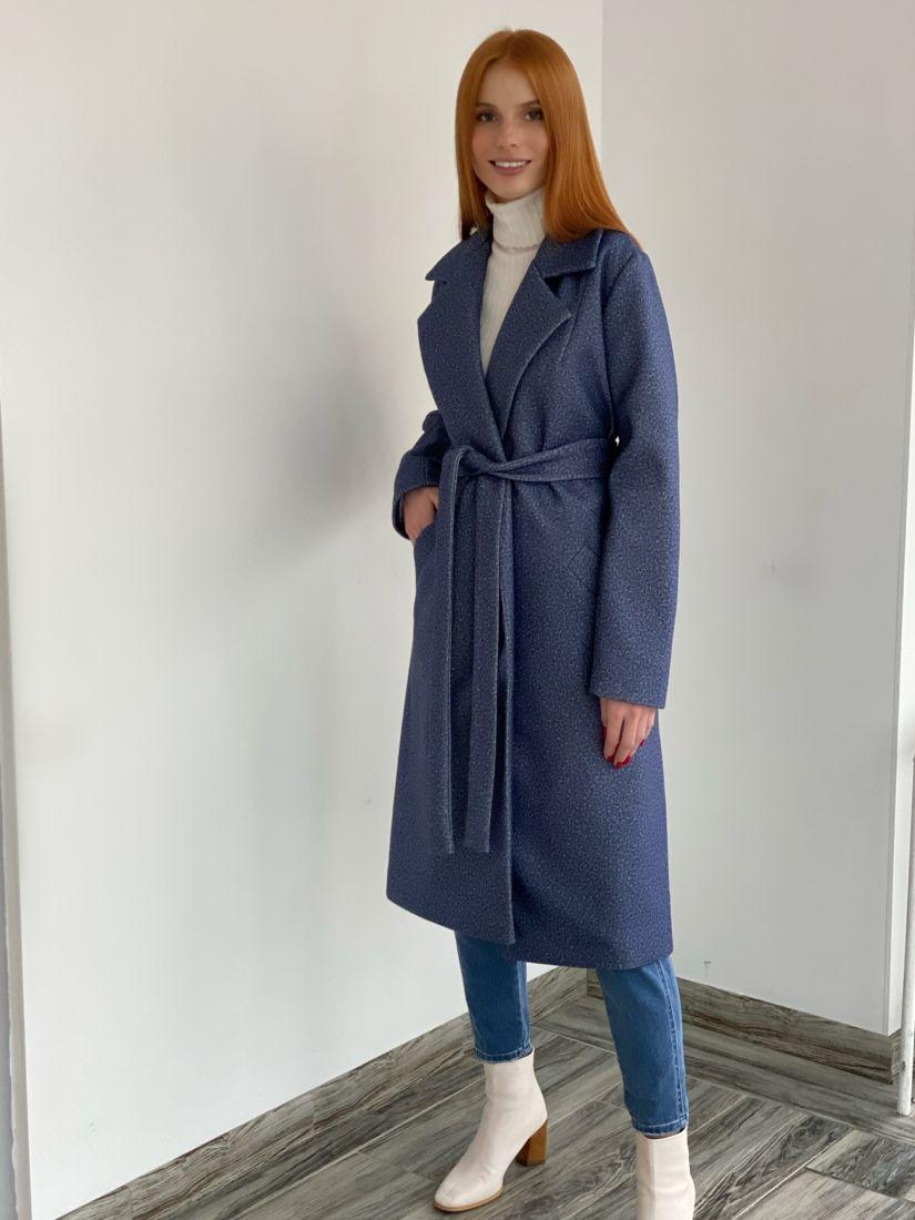 s2791 Пальто классического кроя в цвете дымчатый синий
