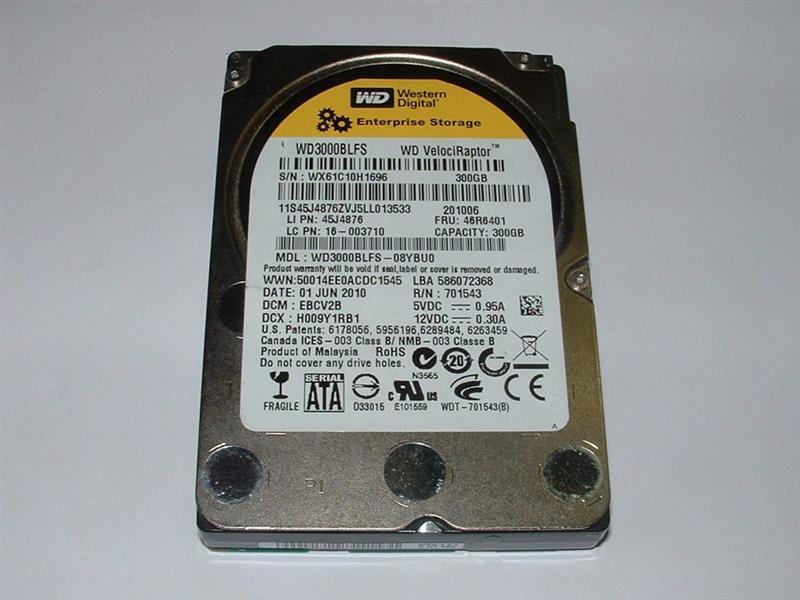 """Накопитель HDD 2.5"""" SATA  300GB WD VelociRaptor 10000rpm 16MB (WD3000BLFS) Refurbished"""