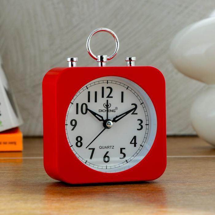 """Будильник """"Ганлок"""", квадратный, красный, 10х14 см   5351214"""