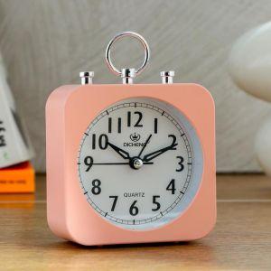 """Будильник """"Ганлок"""", квадратный, розовый, 10х14 см   5351215"""