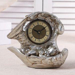 """Часы настольные """"Спящий ангел"""", цвет серебро, h=25.5 см 3940698"""