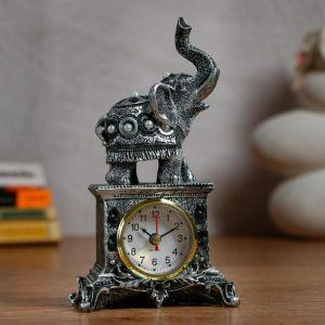 """Часы настольные """"Индийский слон"""" d=5.5 см, 1 АА, дискретный ход   5060056"""