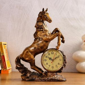 """Часы настольные """"Конь"""", 1 АА, дискретный ход,  27х12х36.5 см   5180716"""