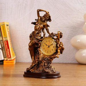 """Часы настольные """"Мать и дитя"""", 1 АА, дискретный ход,  14х10х25 см   5180717"""