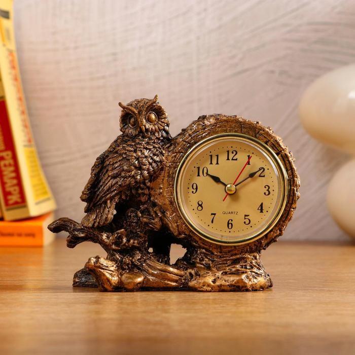 """Часы настольные """"Умный филин"""", 1 АА, дискретный ход,  14х6.5х11.5 см   5180711"""
