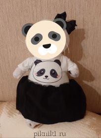 Платье с пандой и заколка
