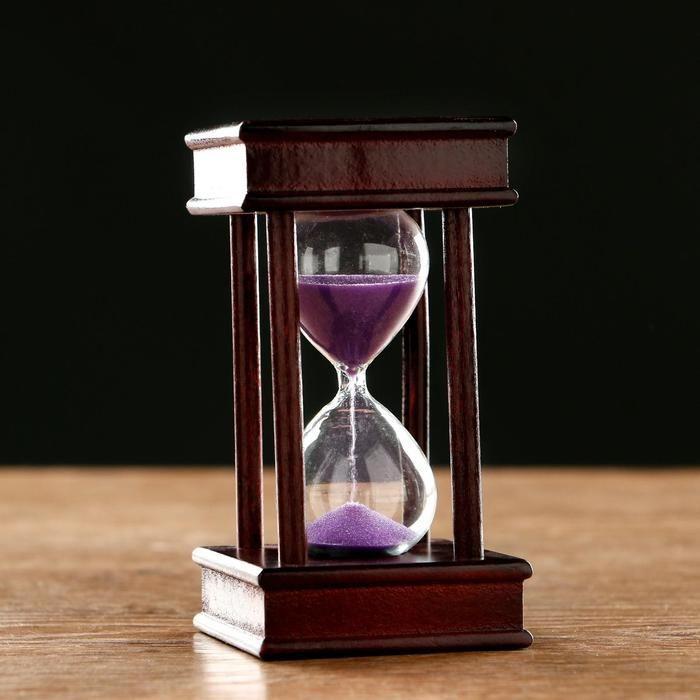 """Часы песочные на 5 минут """"Эссаурия"""",  6х11.5 см, чёрные   5066610"""