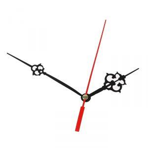 Комплект из 3-х стрелок для часов черные резные 64/100 (2019) (фасовка 100 набор) 2310965