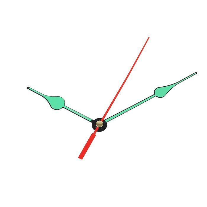 Комплект стрелок для часов, черные, светятся в темноте (2054Y) 2310973