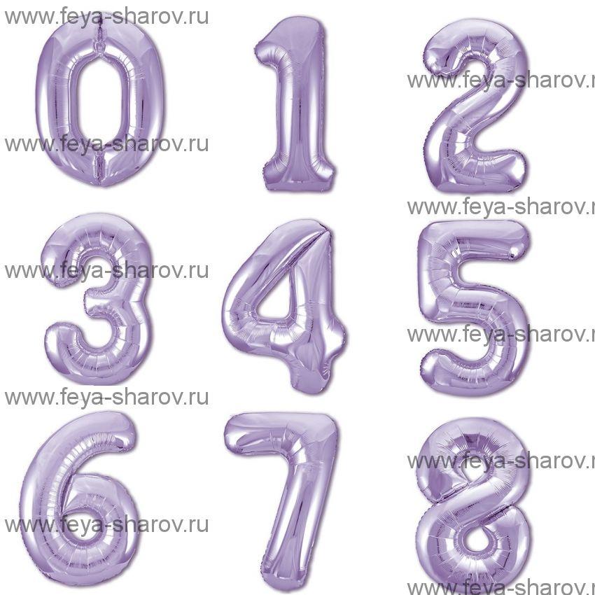Шар-Цифра Slim Фиолетовый 102 см