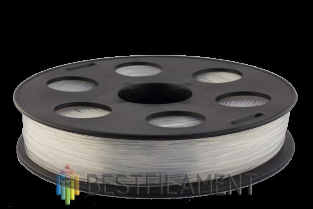 Прозрачный ABS пластик BestFilament - 1.75 мм, вес 0,5 кг.