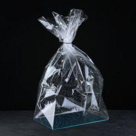 """Пакет """"Подарочный""""белый рисунок, с жестким дном, микс, 22 х 28 х 80 см"""