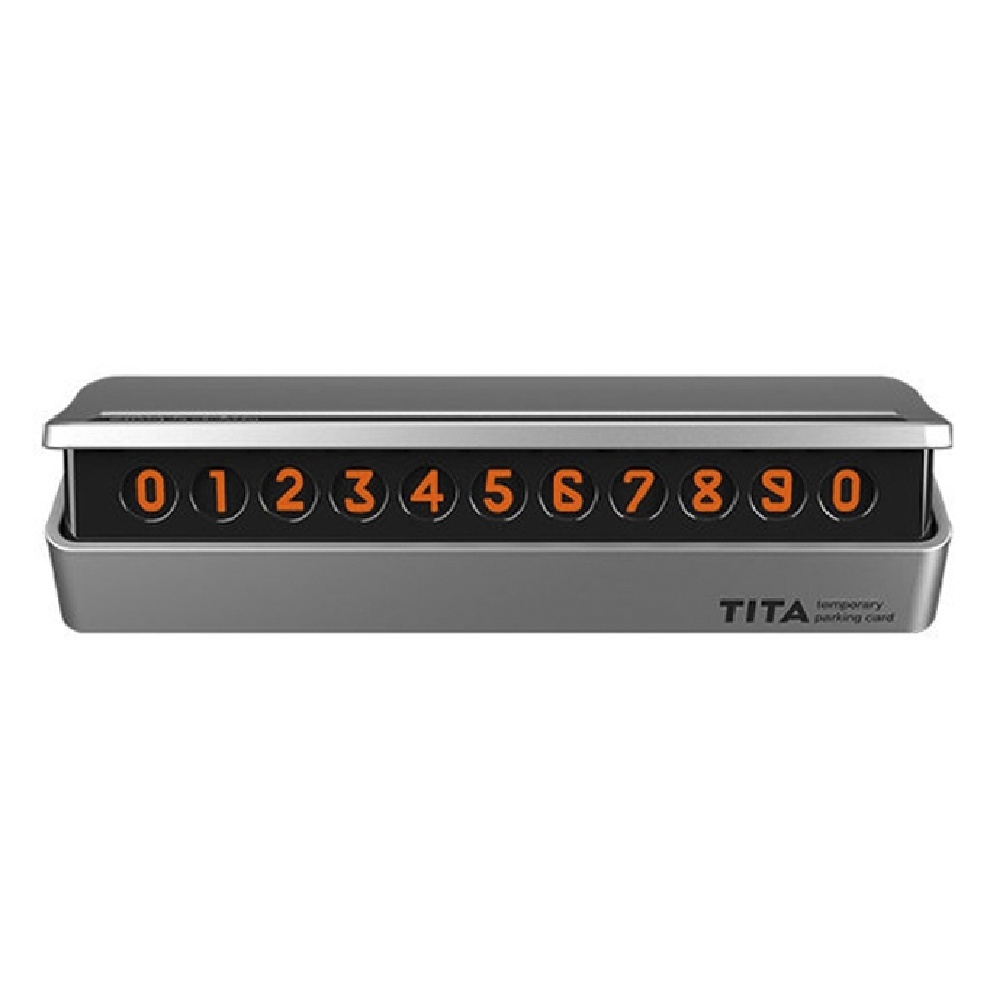 Табличка с номером телефона для авто Xiaomi Bcase TITA MINI Silver
